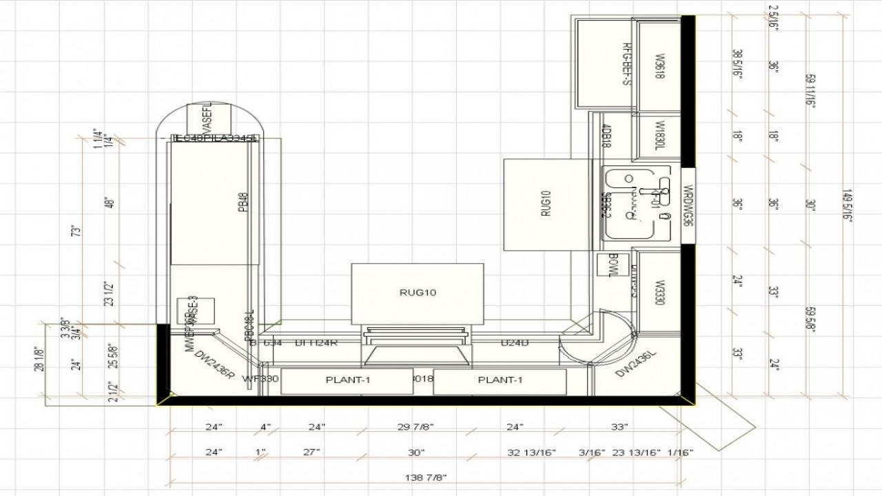u shaped kitchen floor plans photo - 2