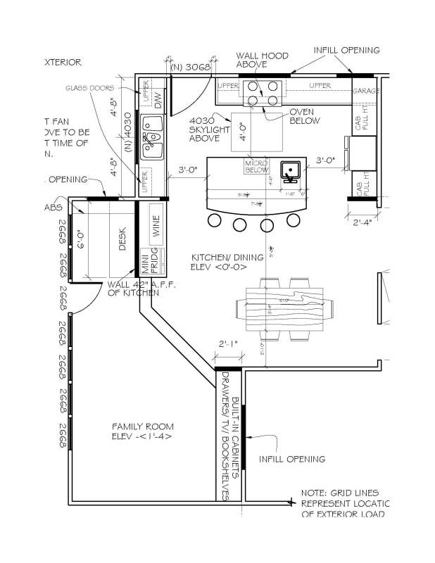 L Shaped Kitchen Floor Plans with island