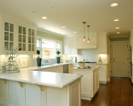 u shaped kitchen island photo - 10