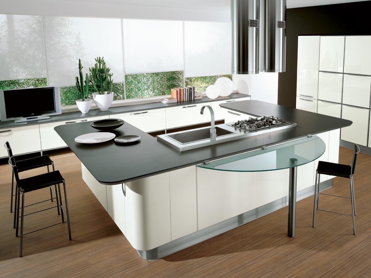 u shaped kitchen island photo - 4