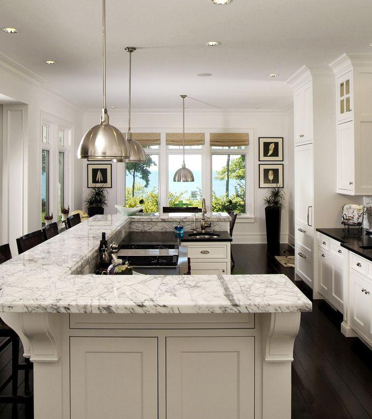 u shaped kitchen island photo - 6