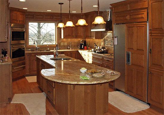 u shaped kitchen island photo - 7