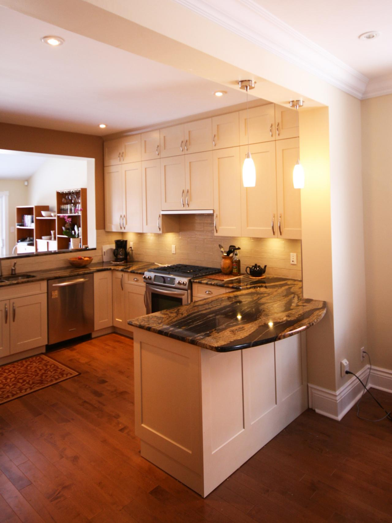 u shaped kitchen layouts with island photo - 1