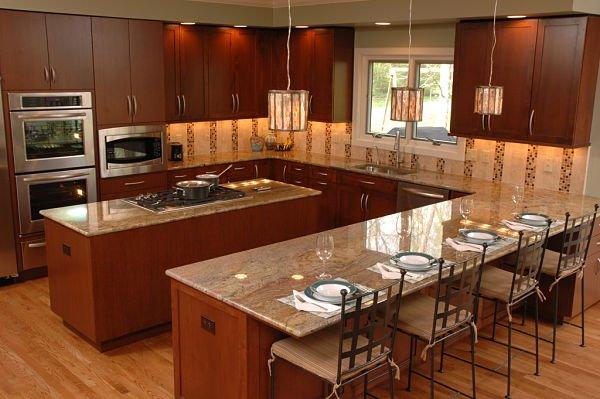 u shaped kitchen layouts with island photo - 10