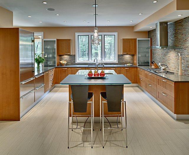 u shaped kitchen layouts with island photo - 6