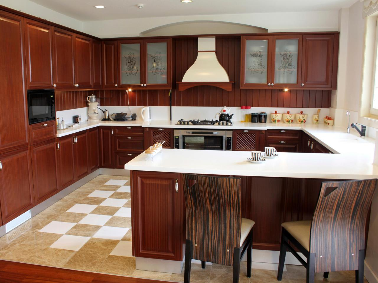 u shaped kitchen layouts with island photo - 7