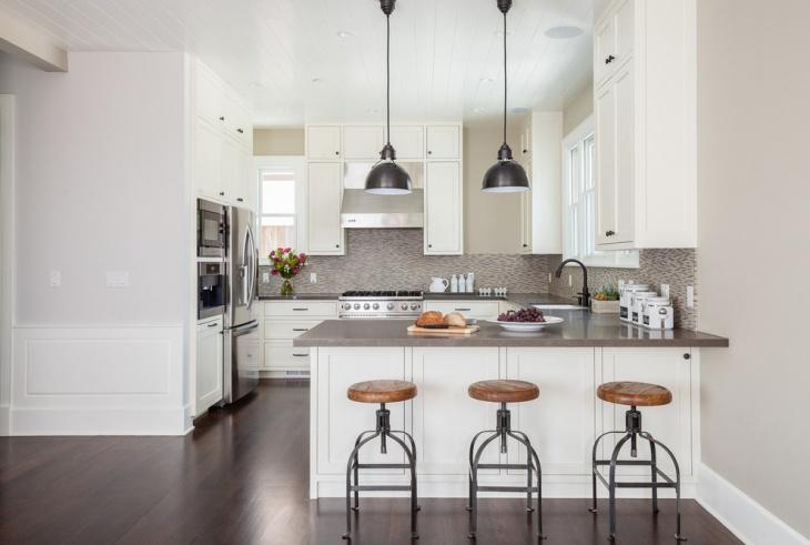u shaped kitchen lighting photo - 1