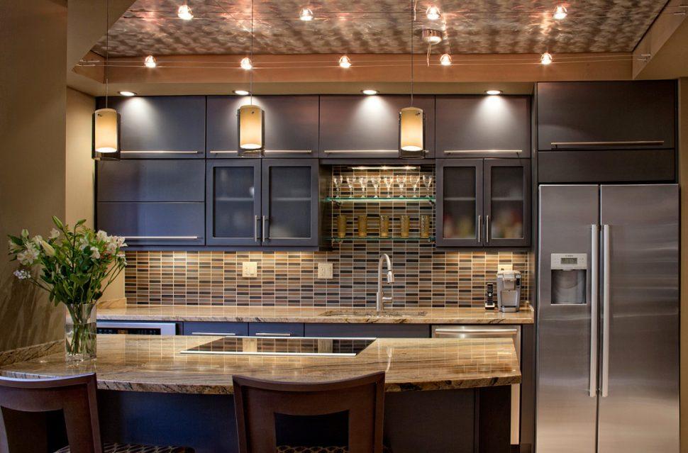u shaped kitchen lighting photo - 10