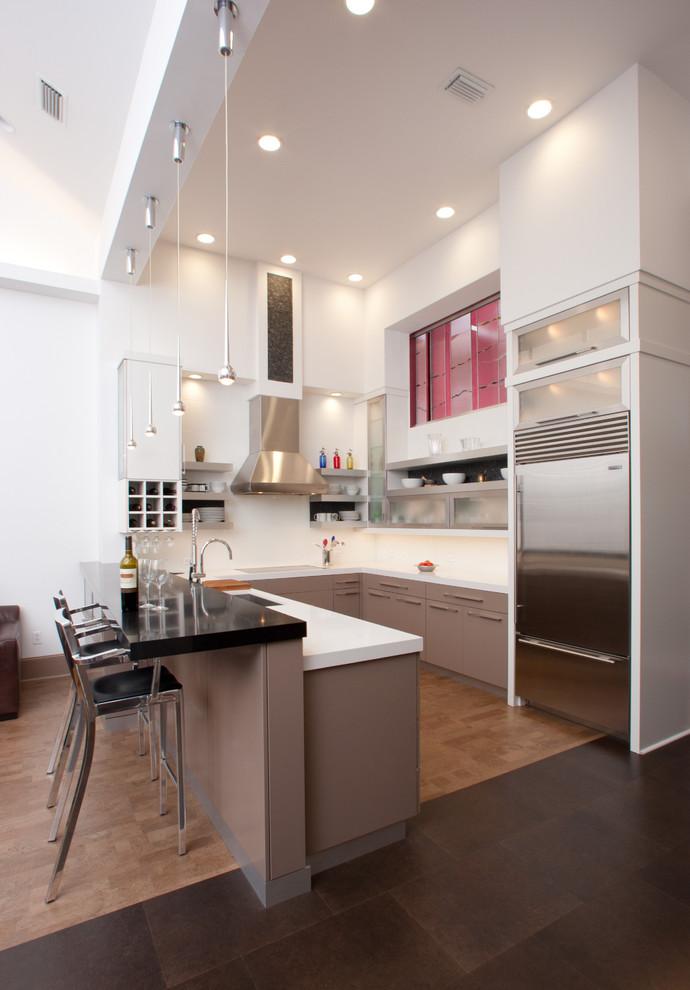 u shaped kitchen lighting photo - 3