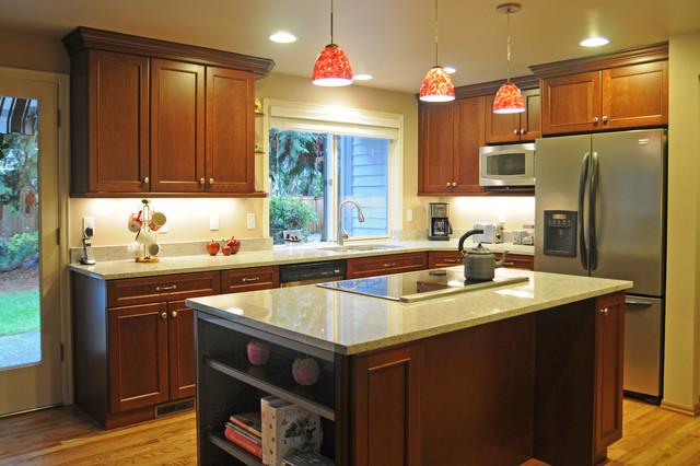 u shaped kitchen lighting photo - 6