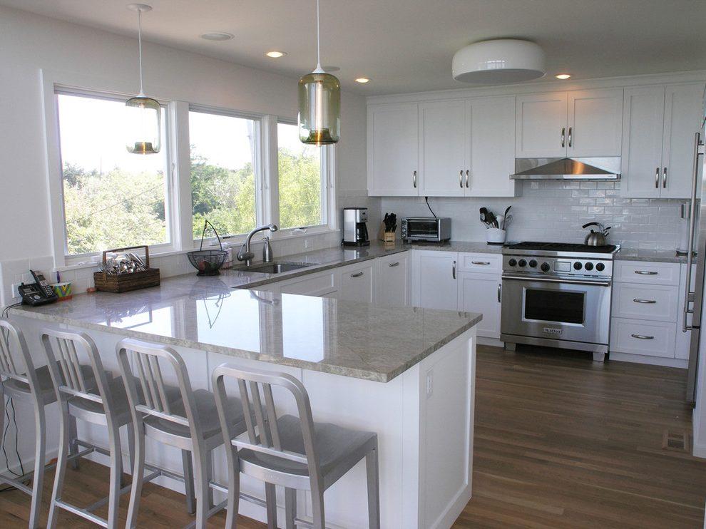 u shaped kitchen lighting photo - 7