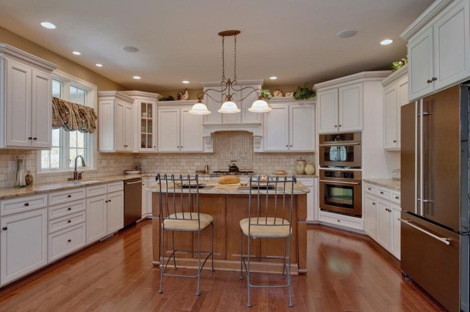u shaped kitchen lighting photo - 8