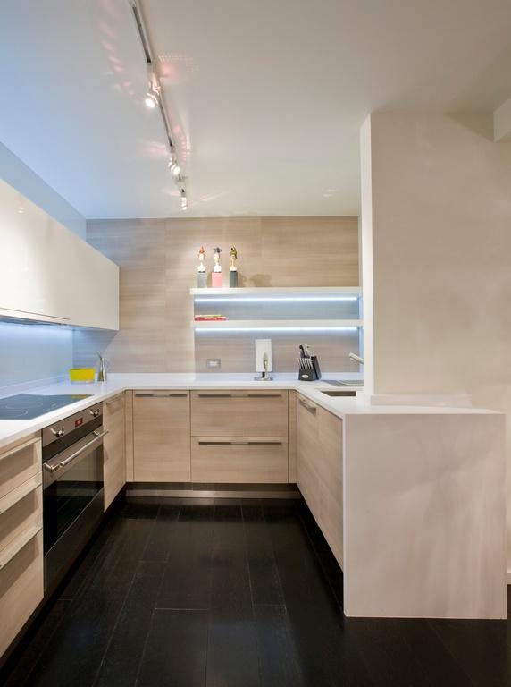 u shaped kitchen lighting photo - 9