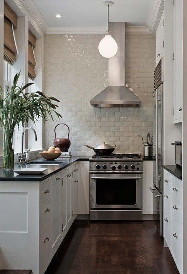 u shaped kitchen small photo - 1