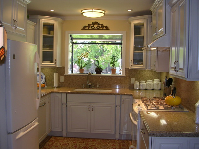 u shaped kitchen small photo - 2