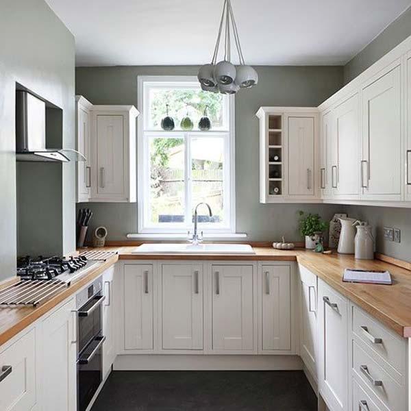 u shaped kitchen small photo - 4