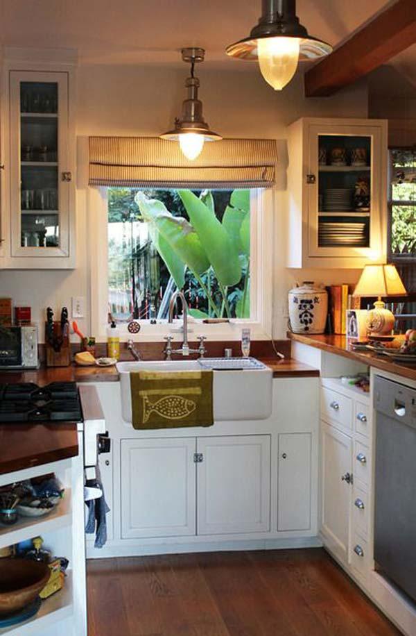 u shaped kitchen small photo - 7