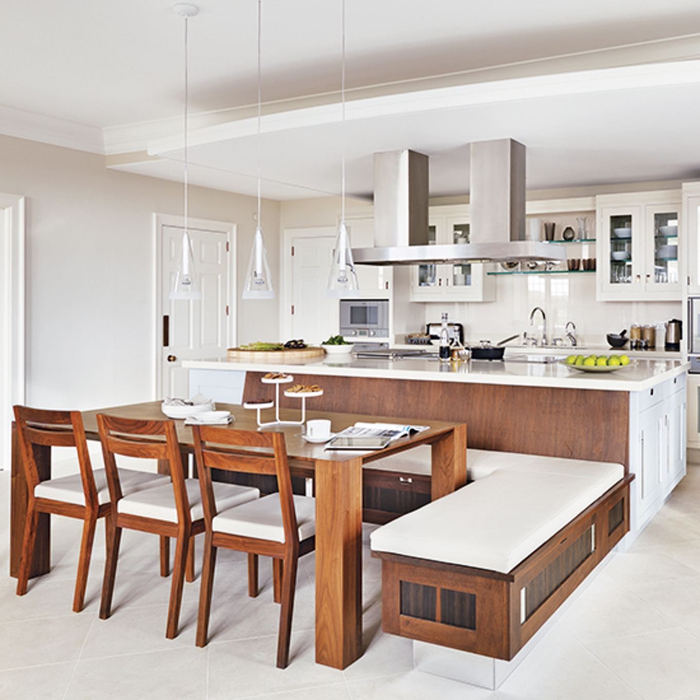 u shaped kitchen with island bench photo - 2