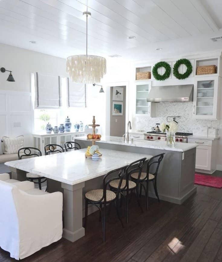 u shaped kitchen with island bench photo - 7