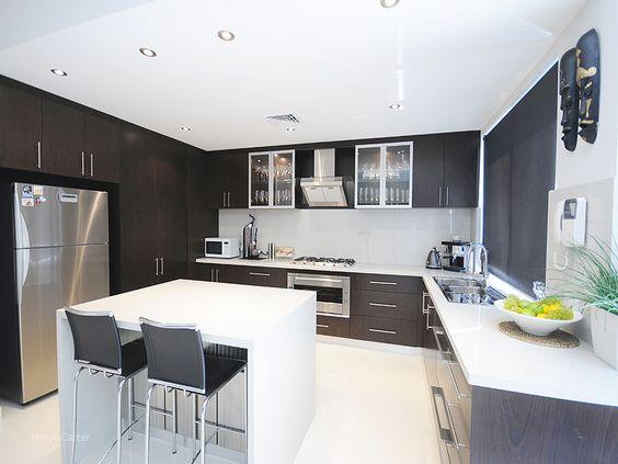 u shaped kitchen with island bench photo - 8