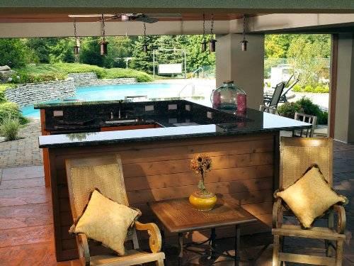 U Shaped Outdoor Bar Designs Photo 1