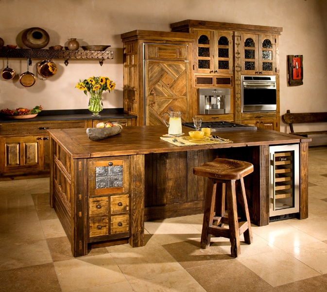 unique kitchen island designs photo - 1