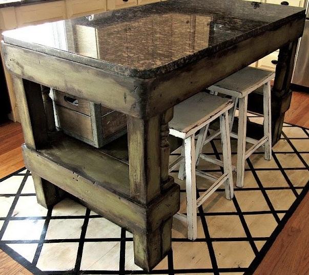 unique kitchen island designs photo - 5