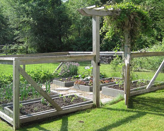 vegetable garden fence gate photo - 10