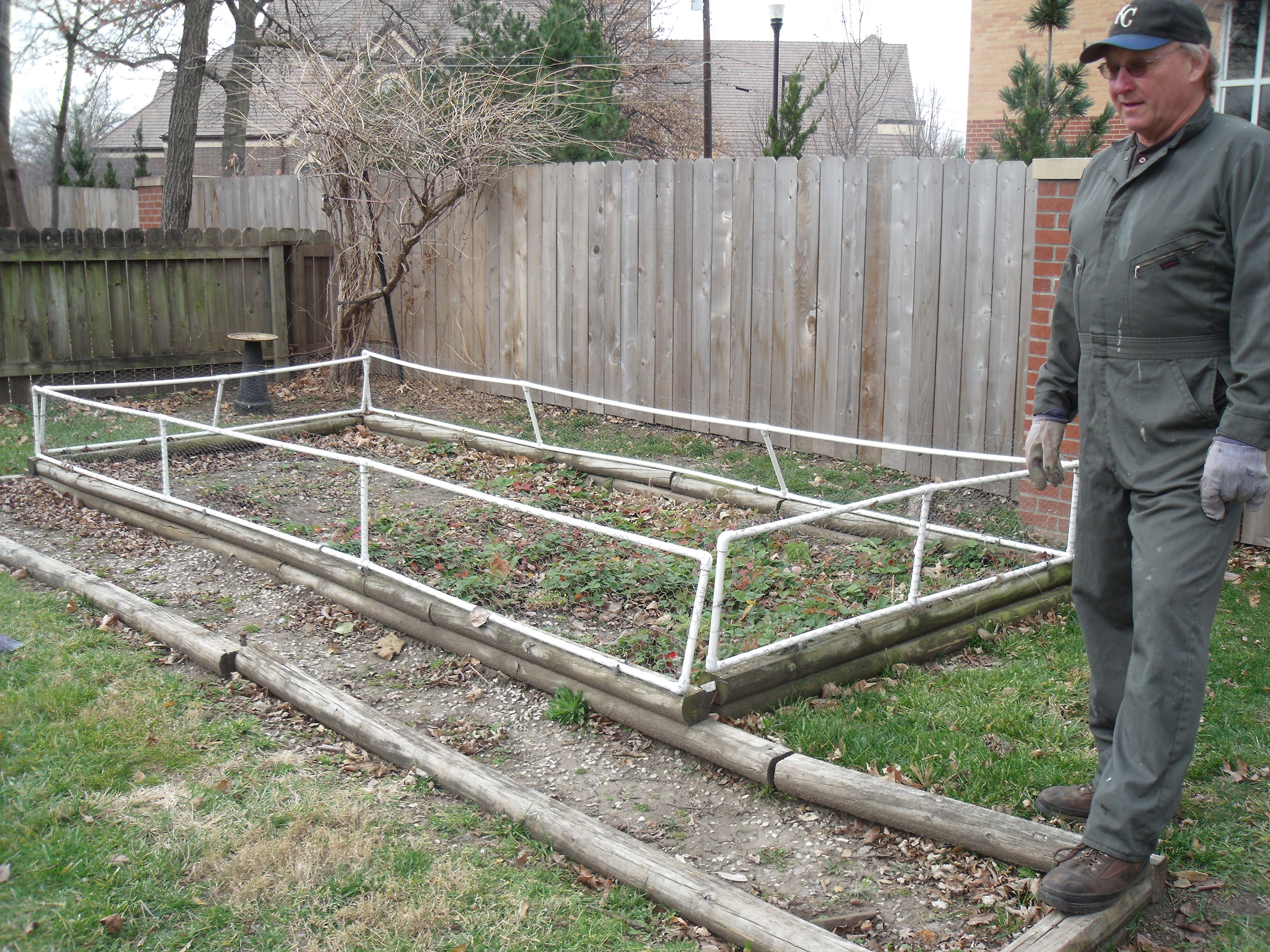 vegetable garden fence height photo - 1
