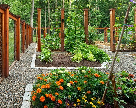 vegetable garden fence posts photo - 10