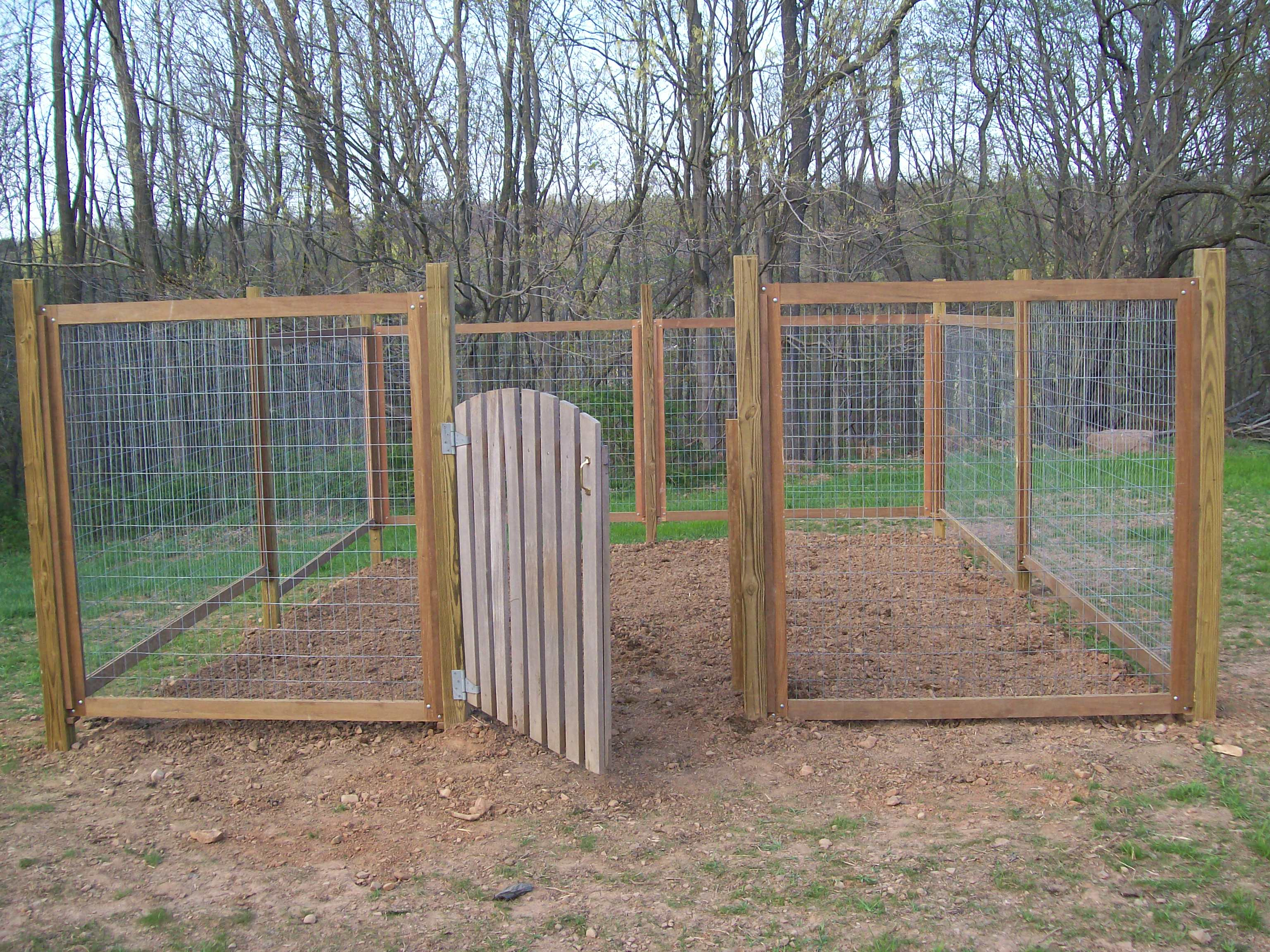 vegetable garden fence posts photo - 2