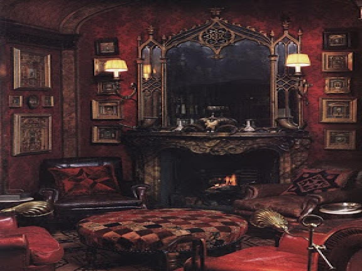 victorian gothic bedroom decorating photo - 4