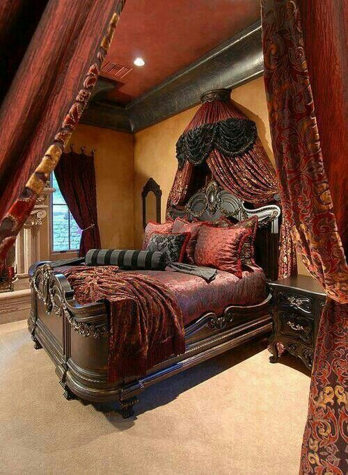 victorian gothic style bedroom photo - 2