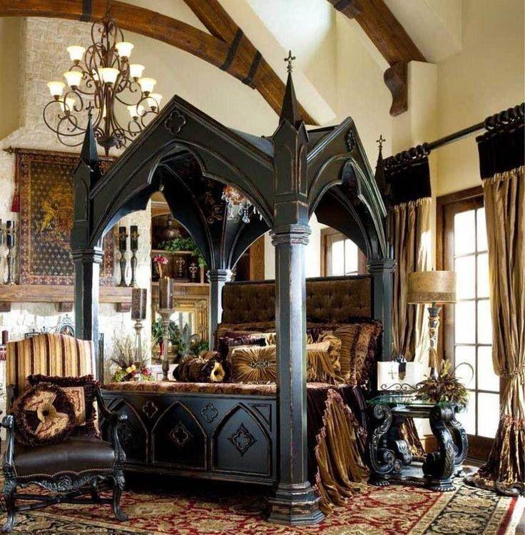 victorian gothic style bedroom photo - 5