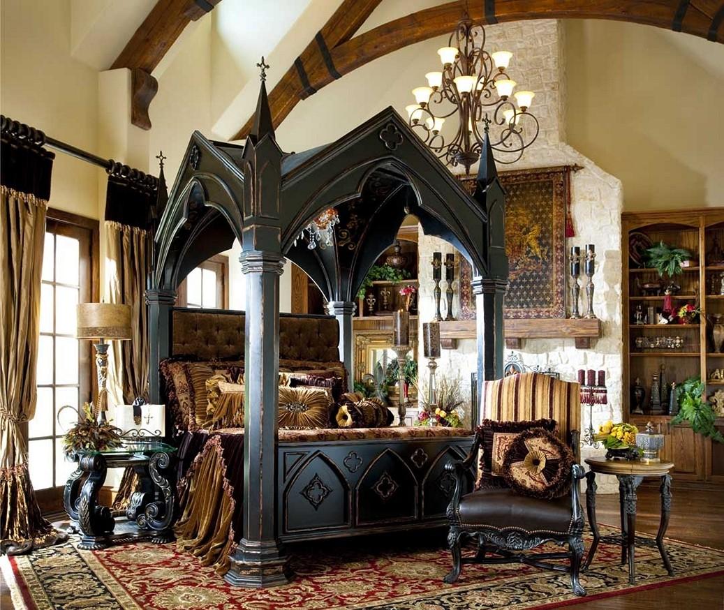 victorian gothic style bedroom photo - 6