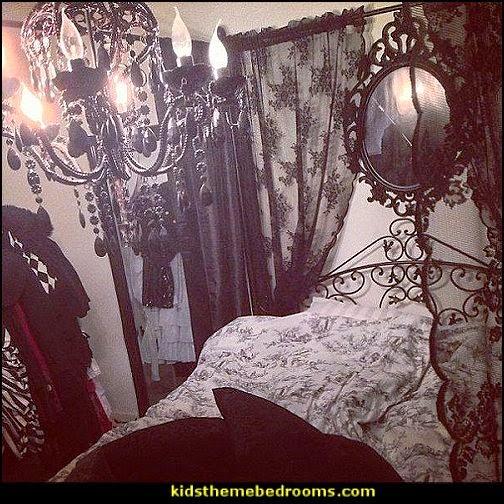victorian gothic style bedroom photo - 7