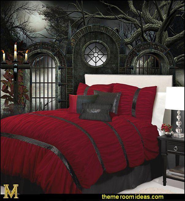 victorian gothic style bedroom photo - 8