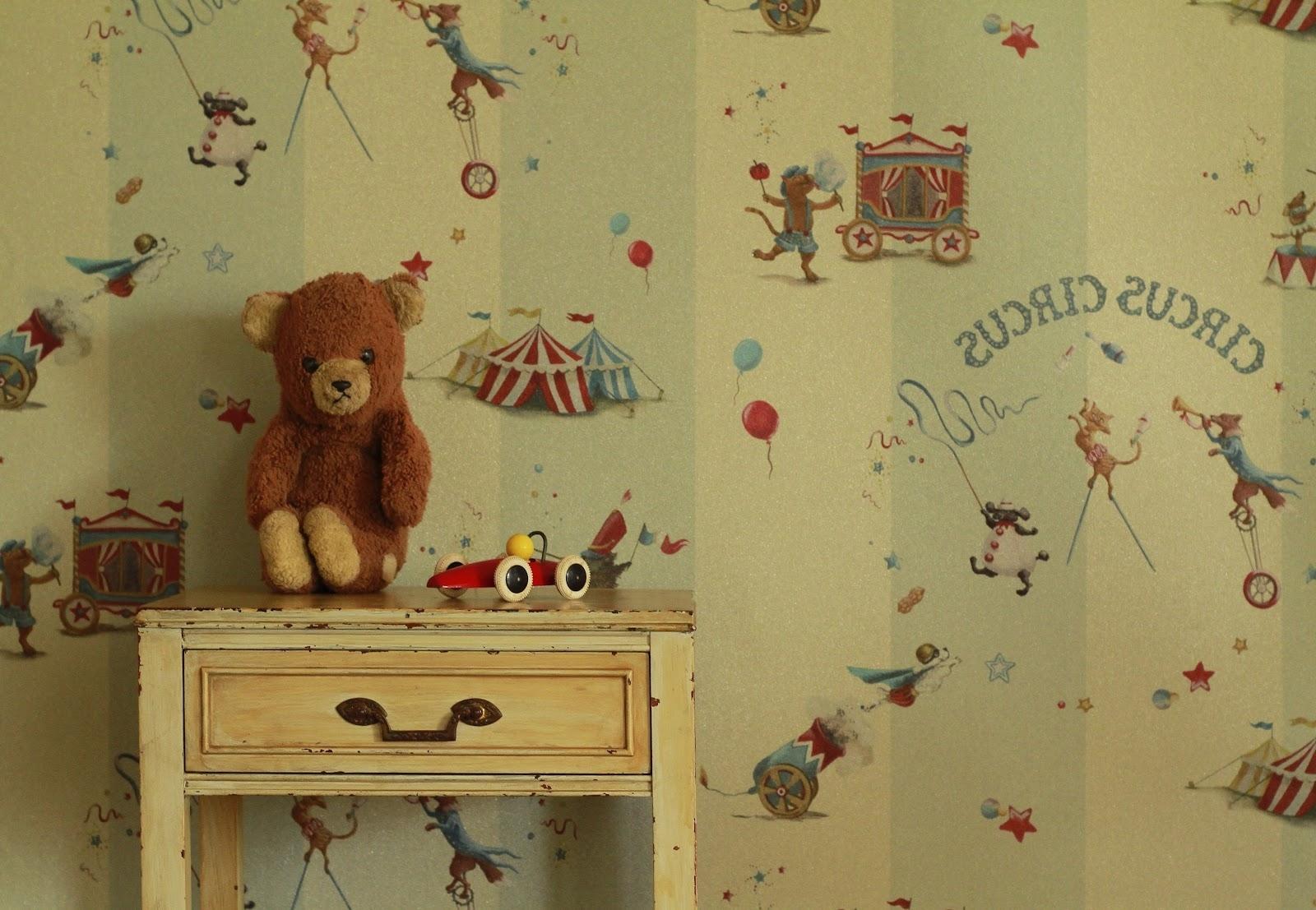 vintage baby room wallpaper photo - 10