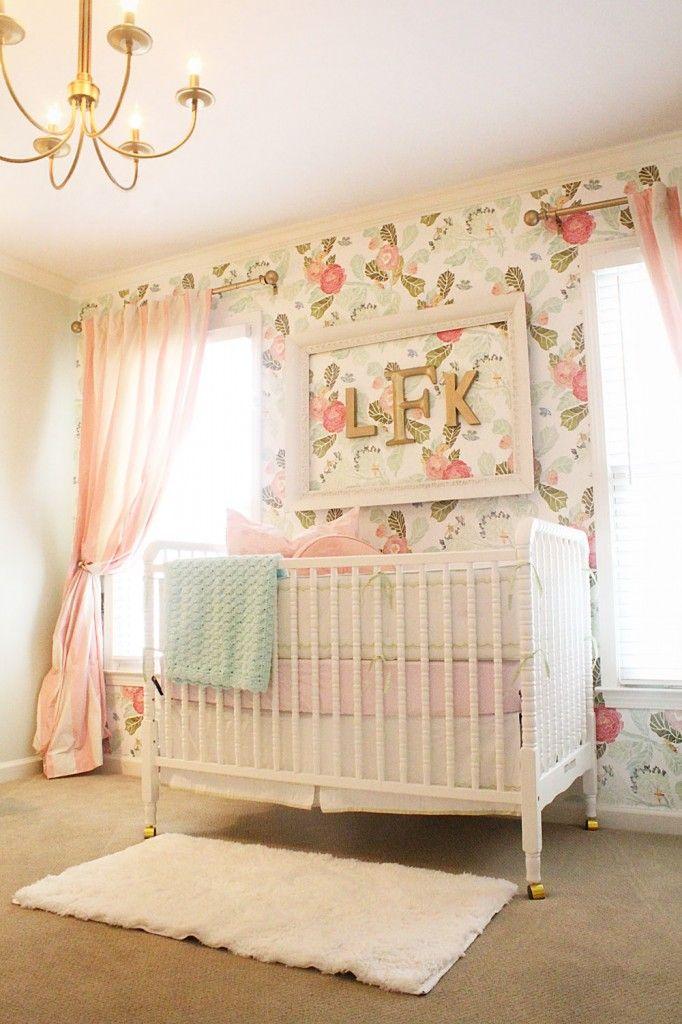 vintage baby room wallpaper photo - 3