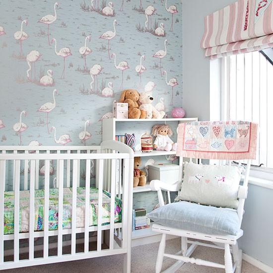 vintage baby room wallpaper photo - 7