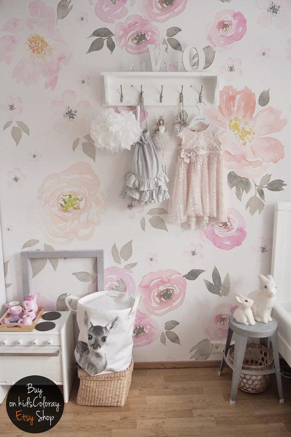 vintage baby room wallpaper photo - 9