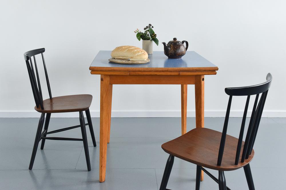 vintage blue kitchen table photo - 8
