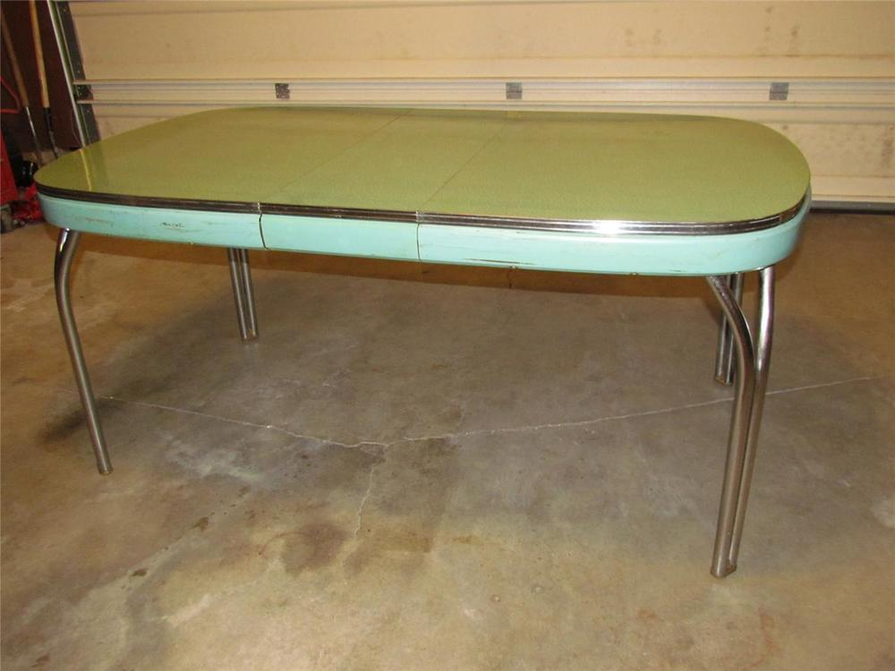 vintage blue kitchen table photo - 9