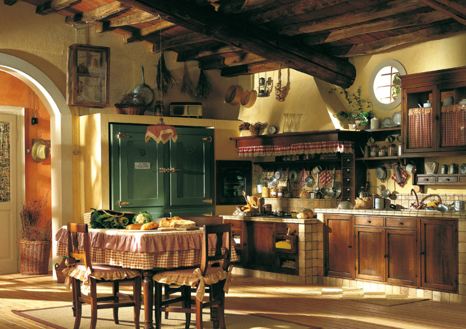 vintage country kitchen design photo - 4