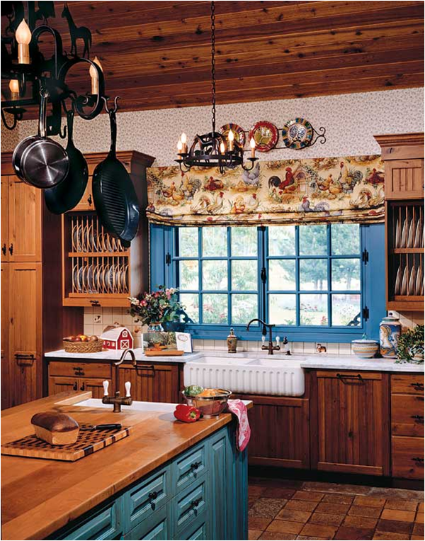 vintage country kitchen design photo - 5