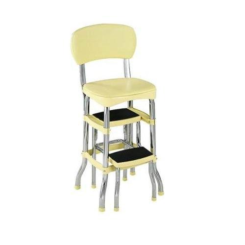 vintage kitchen retro chair bar step stool black photo - 9