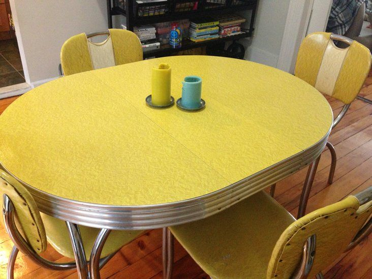 vintage kitchen table and chairs set photo - 10