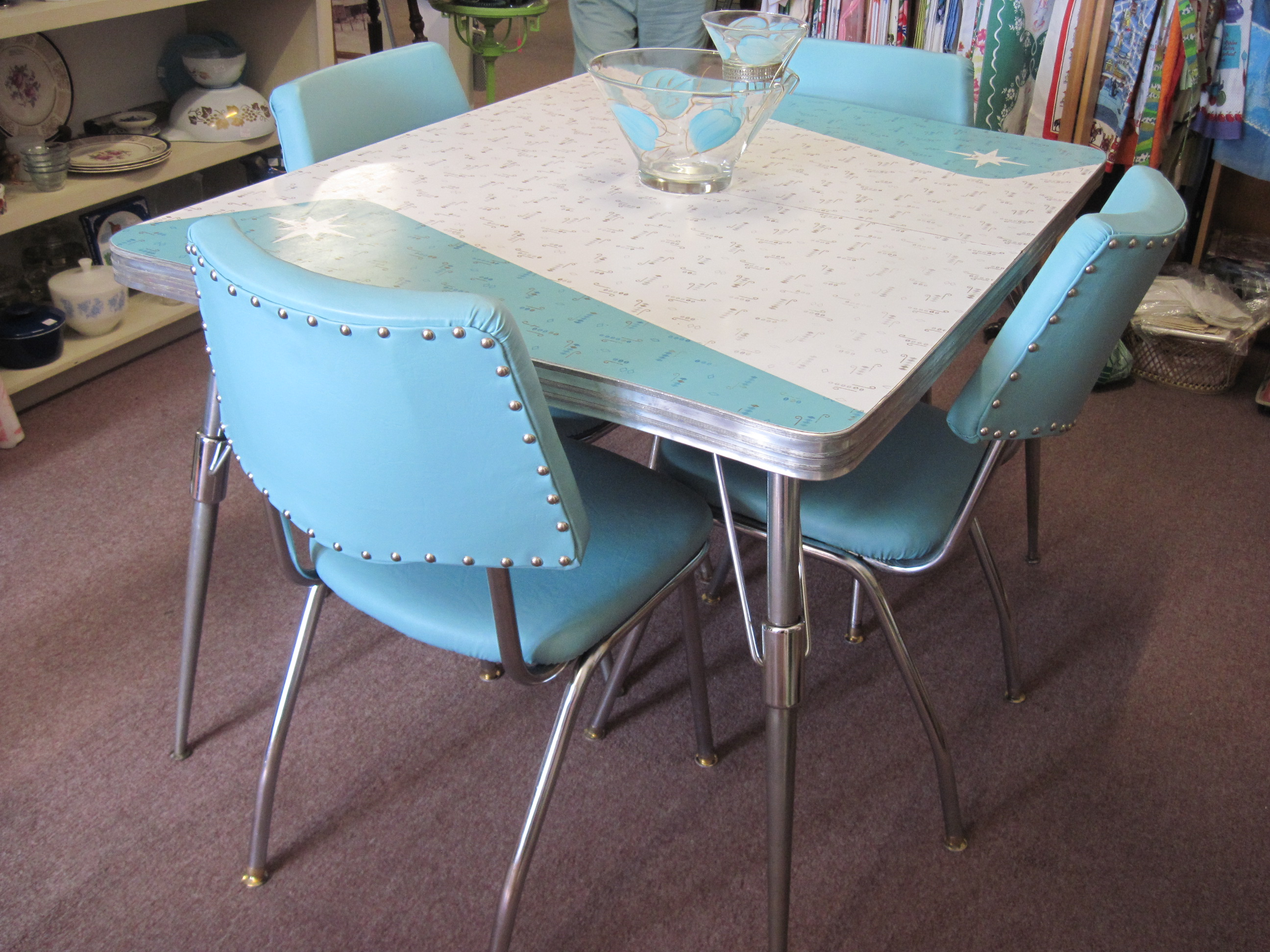 vintage kitchen tables and chairs photo - 2