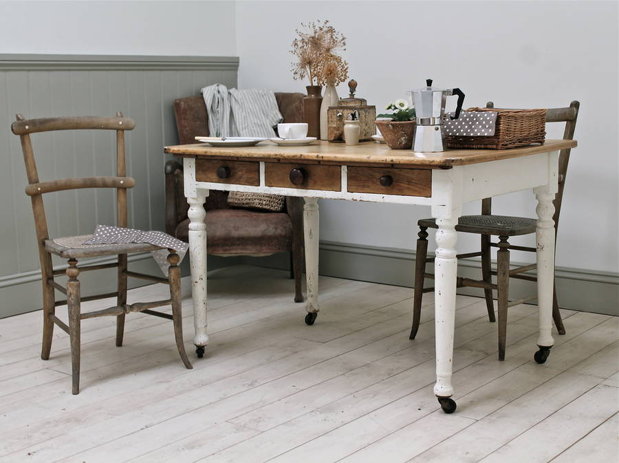 vintage painted kitchen tables photo - 2