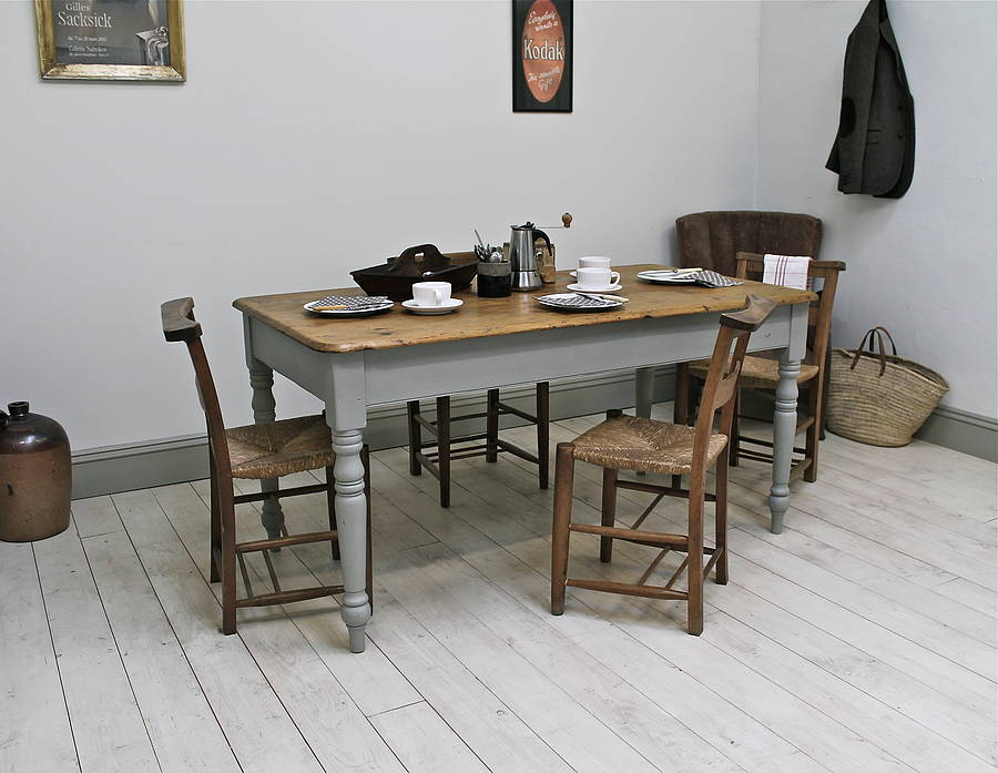 vintage painted kitchen tables photo - 3